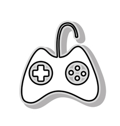 Portable videogame console vector image