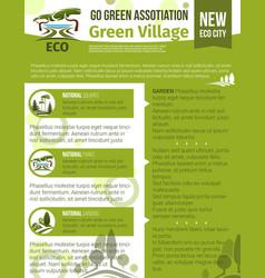 poster for green garden association vector image