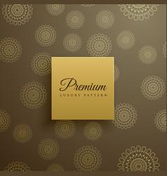 premium mandala pattern background vector image