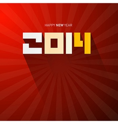 Red Happy New Year Background vector image