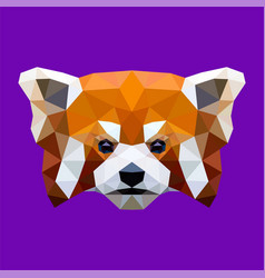 Red panda low poly vector
