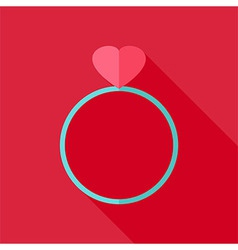 Ring with heart vector