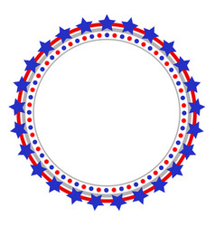 round american frame with stars vector image