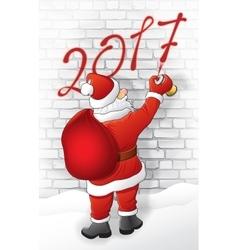 Santa draws 2017 vector