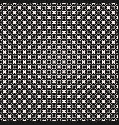 Seamless pattern geometric texture smooth crosses vector