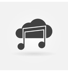 Sound cloud black icon or logo vector image