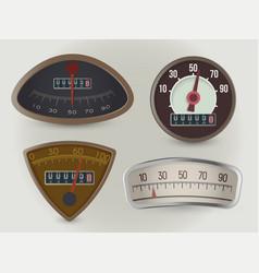 speedometers speed gauges realistic vector image
