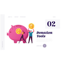 support crowdfunding project landing page template vector image