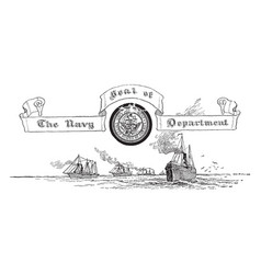 the united states seal of the navy deparment vector image