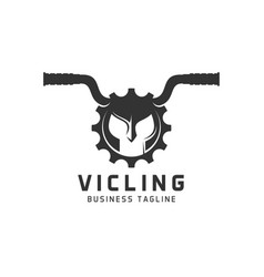 vicling is sport logo with combination concept vector image