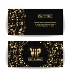 Vip invitation card party premium blank vector