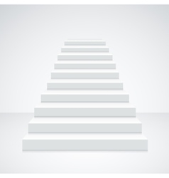 White Staircase Blank vector image
