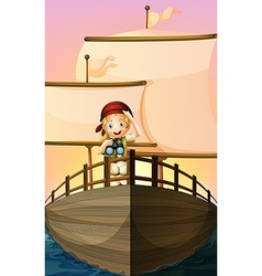 A pirate girl vector