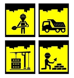 building concept icons vector image vector image