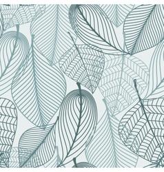 Delicate skeleton leaves seamless pattern vector image vector image