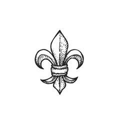 engraving fleur de lis vector image