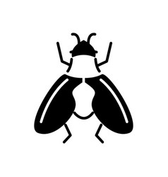 fly icon black sign on vector image