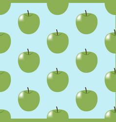 green apple pattern vector image