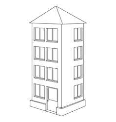 house contour vector image