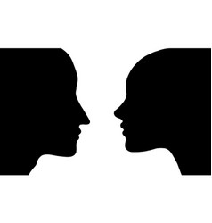 profiles of woman and man vector image