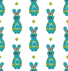 Seamless pattern with Easter bunny-4 vector image vector image