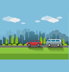 urban atmosphere vector image
