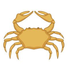 crab icon cartoon style vector image vector image