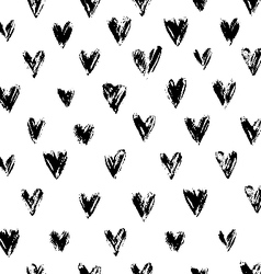 Grunge Hearts Ornament vector image vector image