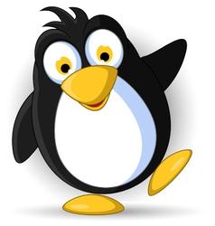 happy little penguin cartoon vector image vector image