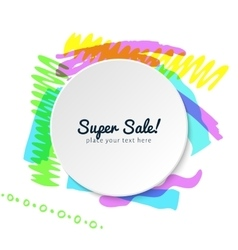template of highlighter frame vector image vector image