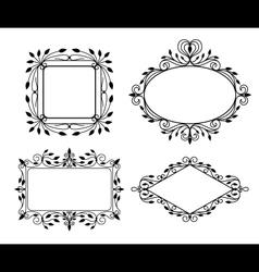 Vintage graphic frames vector image