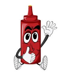Cartoon Tomato Sauce vector image vector image