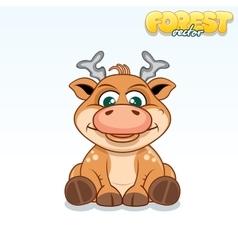 Cute Cartoon Axis Deer Funny Animal vector image vector image