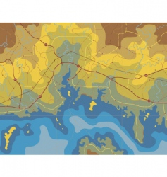 coastal map vector image