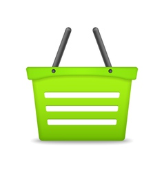 Green Shopping Basket vector image vector image