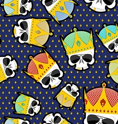 Skull Crown Seamless pattern background for Kings vector image