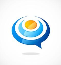 talk bubble abstract logo vector image