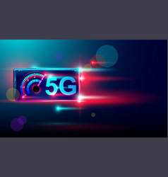 5g wireless internet with high speed download vector image