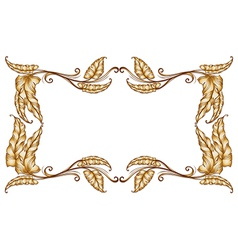 A frame of leaves vector image