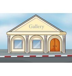 A gallery house vector