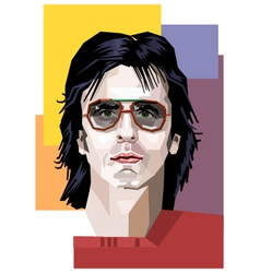 A handsome man in sunglasses vector image
