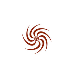 abstract swirl logo vector image