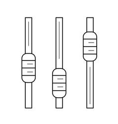 Audio record line icon vector