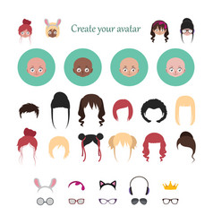 avatar creator with stylized characters vector image