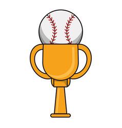 Baseball trophy sport golden image vector
