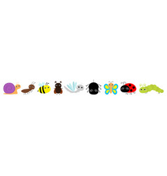 beetle ladybug ladybird dragonfly ant butterfly vector image