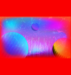Blurred synthwave technology background vector