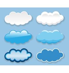 bubbles icon set vector image