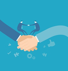 Business team shakehand vector