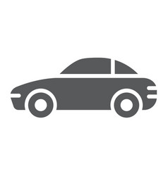 car glyph icon traffic and vehicle automobile vector image